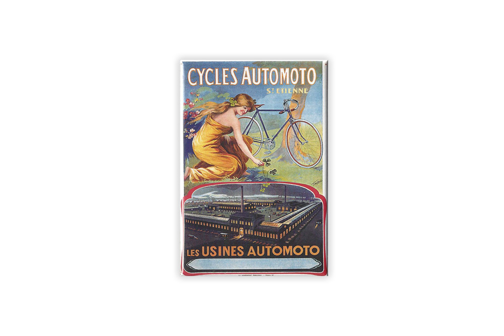 Cycles Automoto Bicycle Fridge Magnet