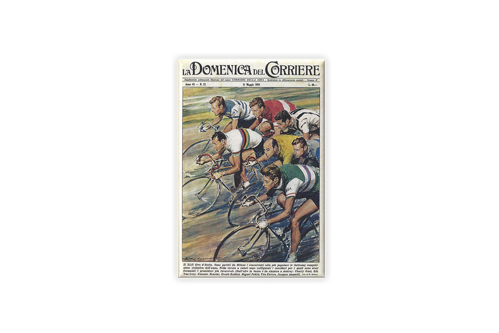La Domenica Del Corriere Bicycle Fridge Magnet