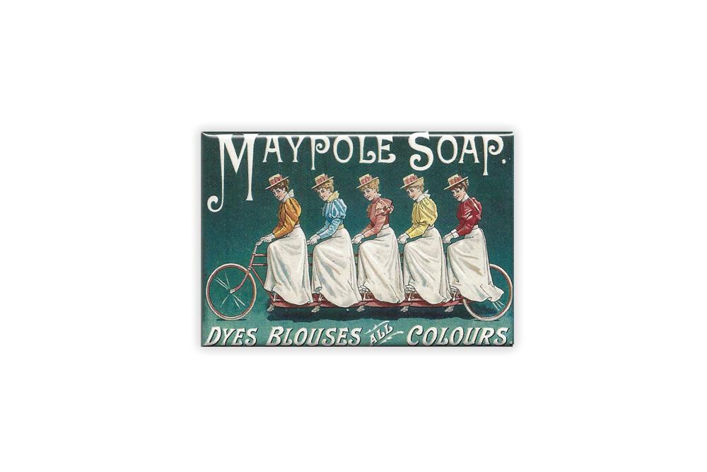 Maypole Soap Bicycle Fridge Magnet