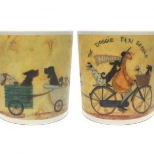 Sam Toft Bicycle Mug - The Doggie Taxi Service