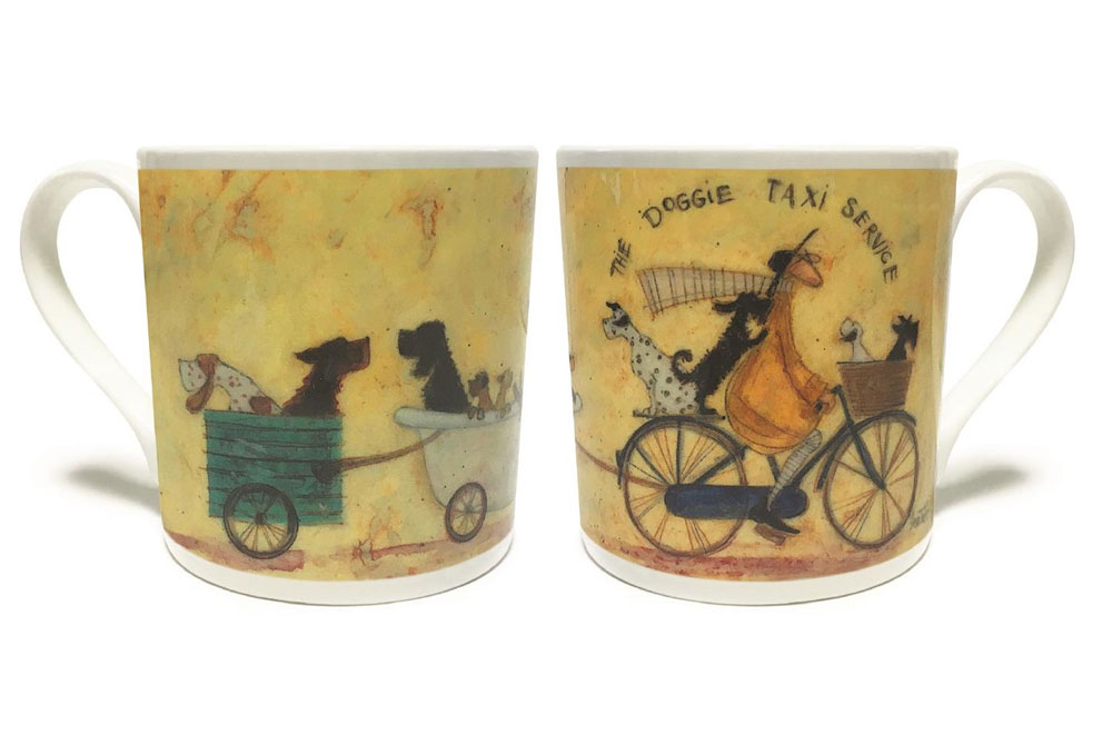 Sam Toft Bicycle Mug – The Doggie Taxi Service