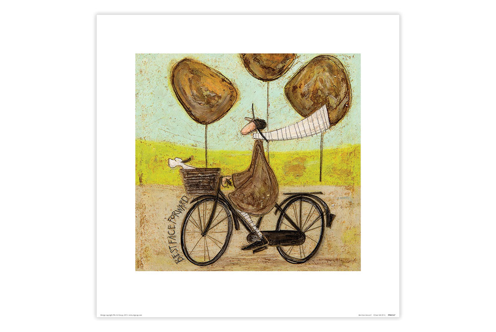 Best Face Forward Cycling Print by Sam Toft