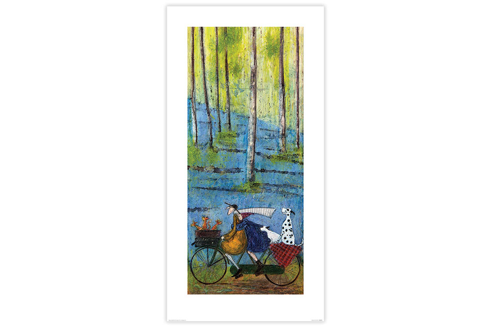 Spring Cycling Print by Sam Toft