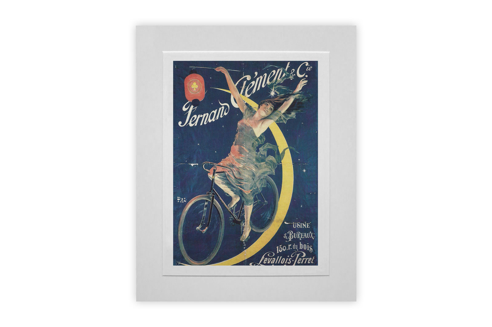 Fernand Clement Mounted Giclee Cycling Print