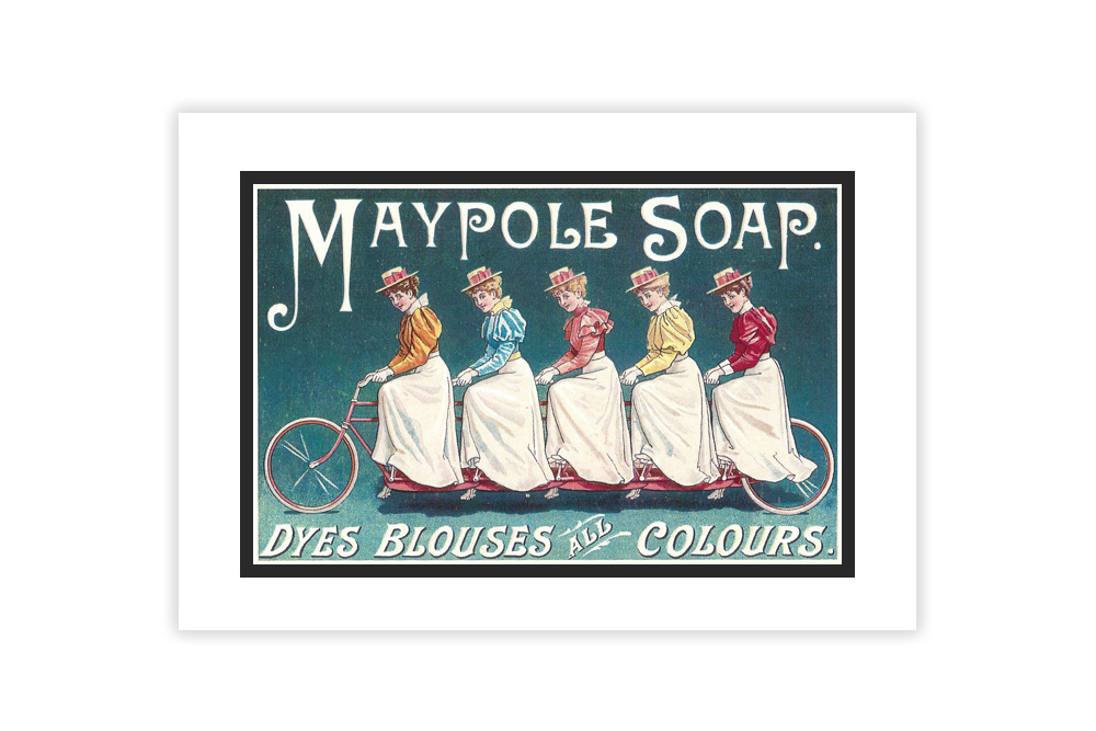 Maypole Soap Vintage Cycling Print