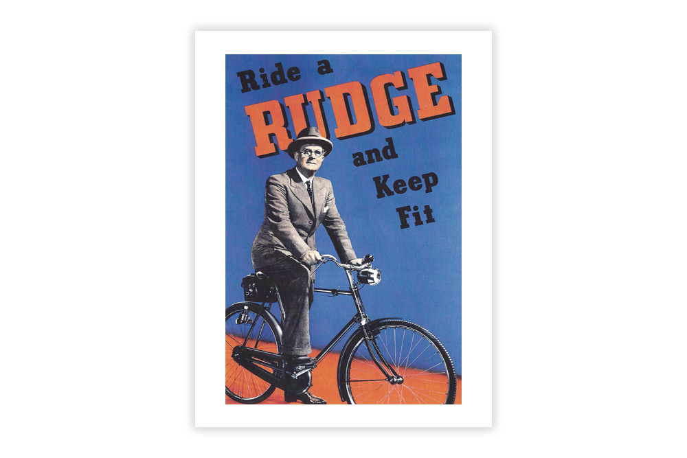 Ride a Rudge Vintage Cycling Print