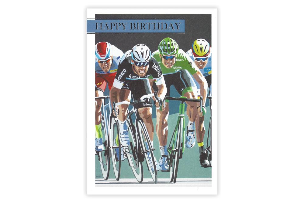 Cavendish Racing Bicycle Birthday Card