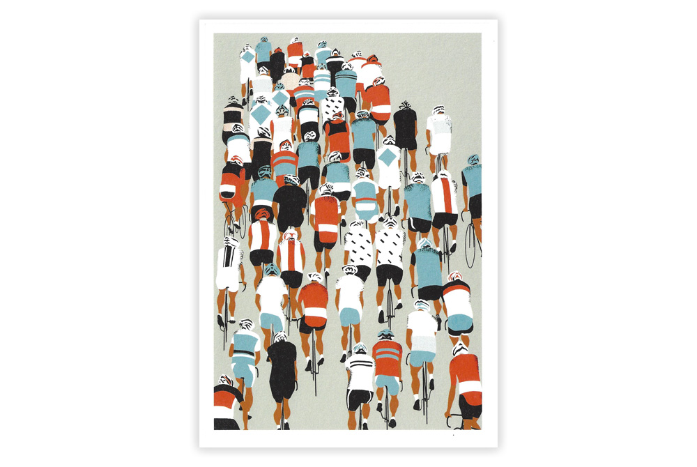 Peloton Racing Bicycle Birthday Card