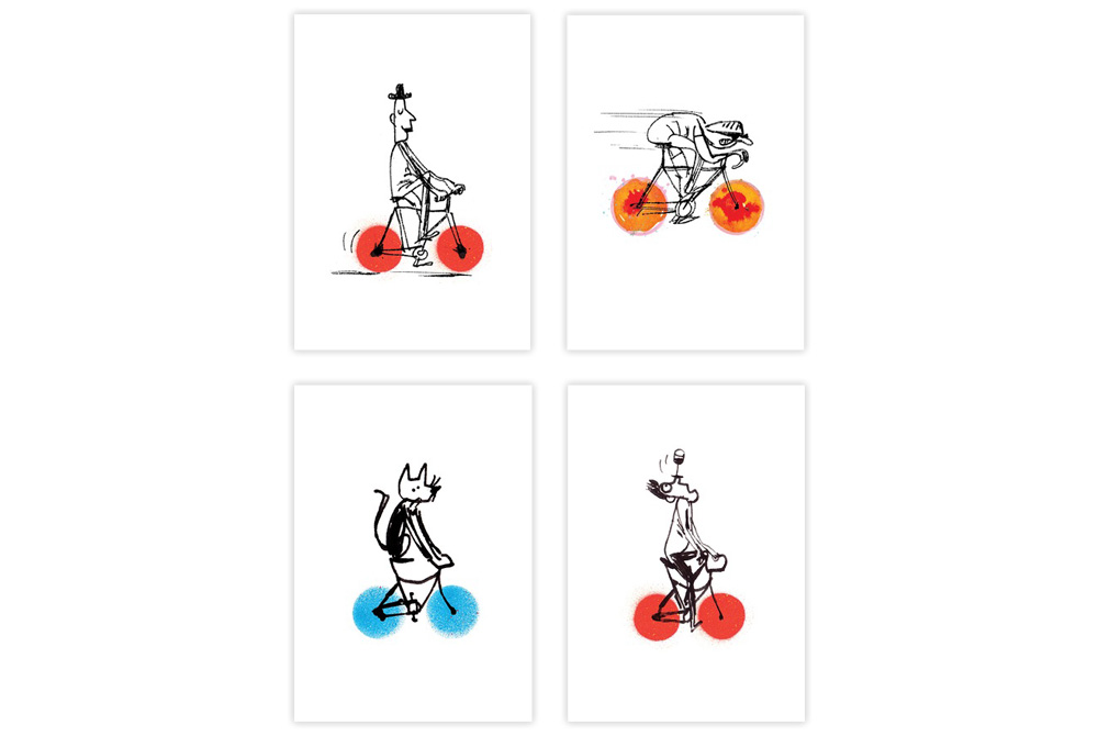 Hot Wheels Collection Bicycle Greeting Cards – Simon Spilsbury