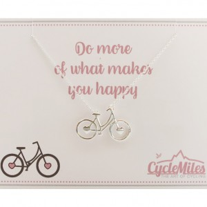 Sterling Silver Women's Bicycle Necklace