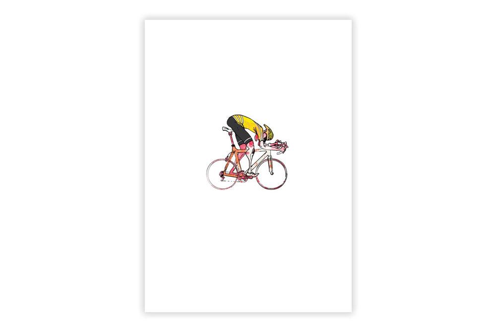 Lone Racer 010 Cycling Print – Simon Spilsbury