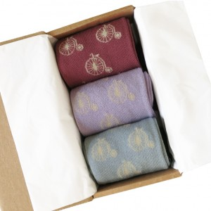 Women's Bicycles in a Box Socks Gift Box