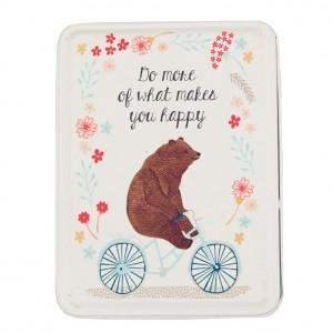 Bear on a Bicycle Tin