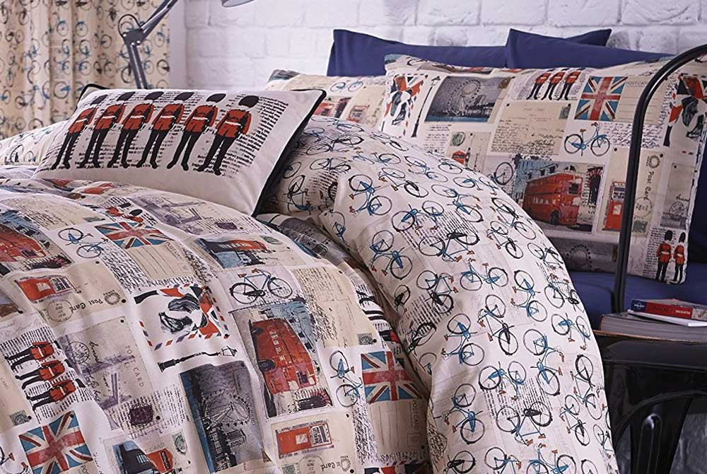 Sights 'n' Bikes King Size Bicycle Duvet Set