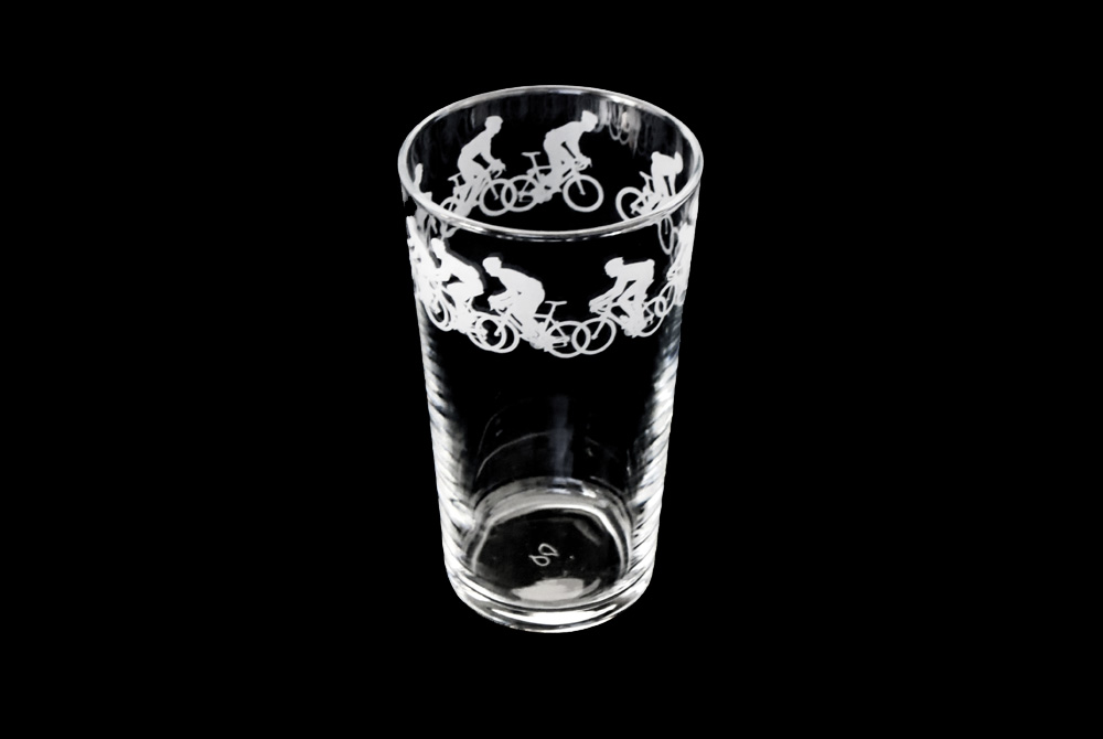 Racing Cyclist Pint Glass