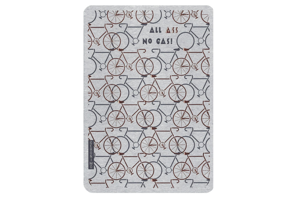 All Ass No Gas Bicycle Greeting Card