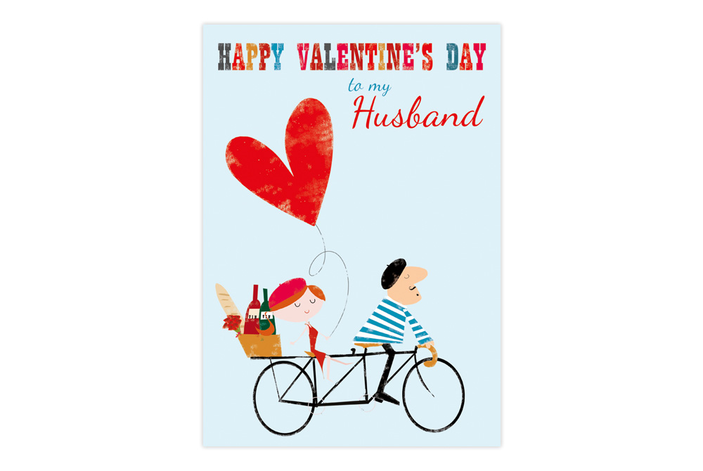 Husband Valentine's Day Bicycle Greeting Card