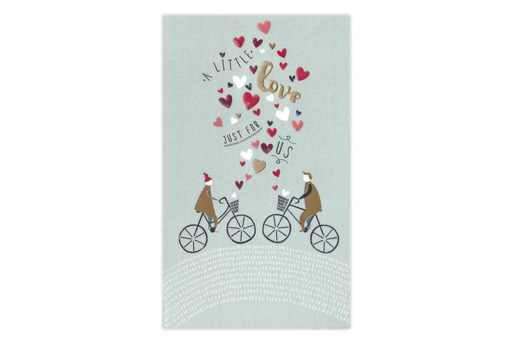 A Little Love Just For Us Bicycle Greeting Card