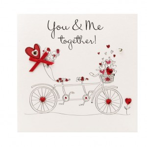 You & Me Tandem Valentine's Day Card