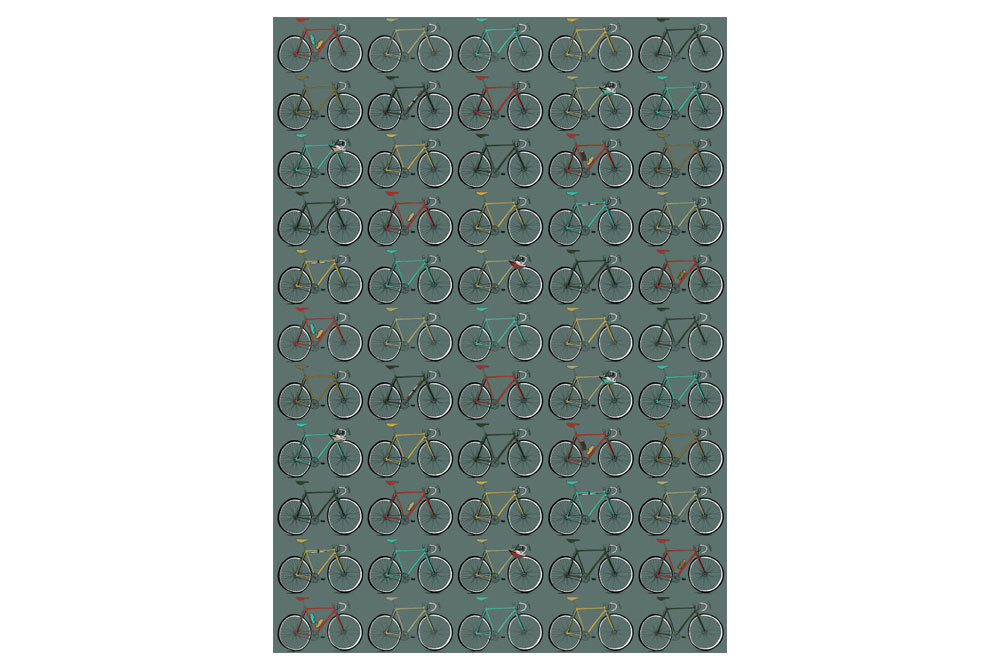 Multi Racing Bicycles Wrapping Paper