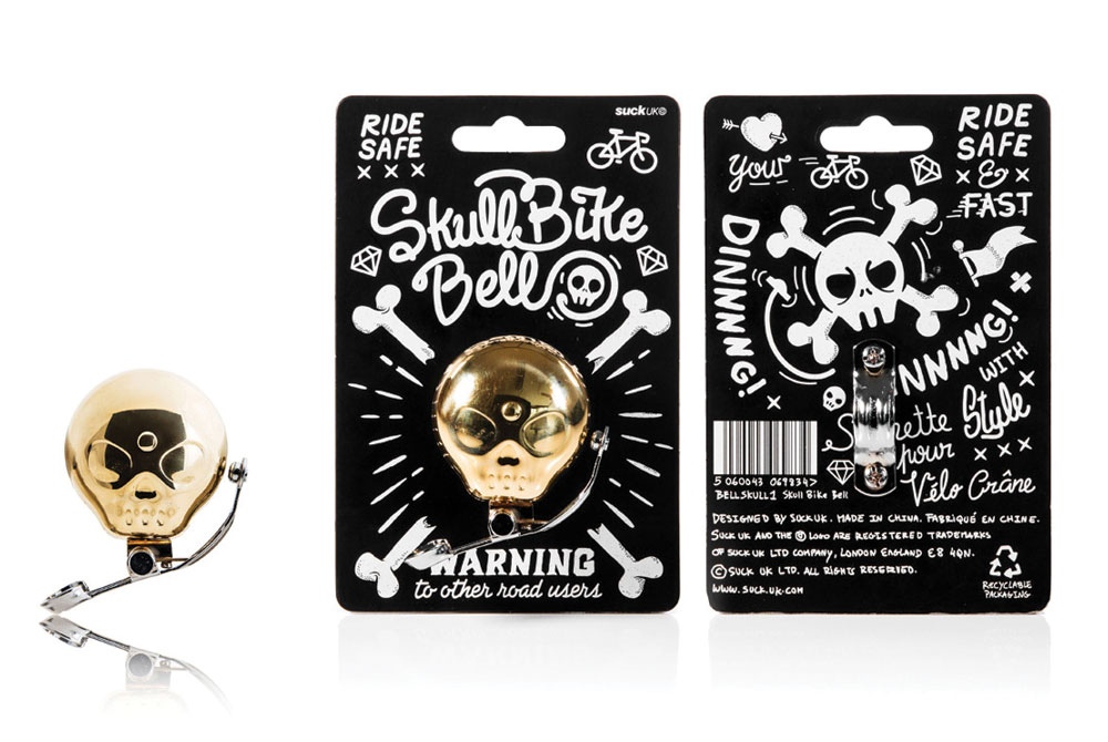Skull Brass Bicycle Bell