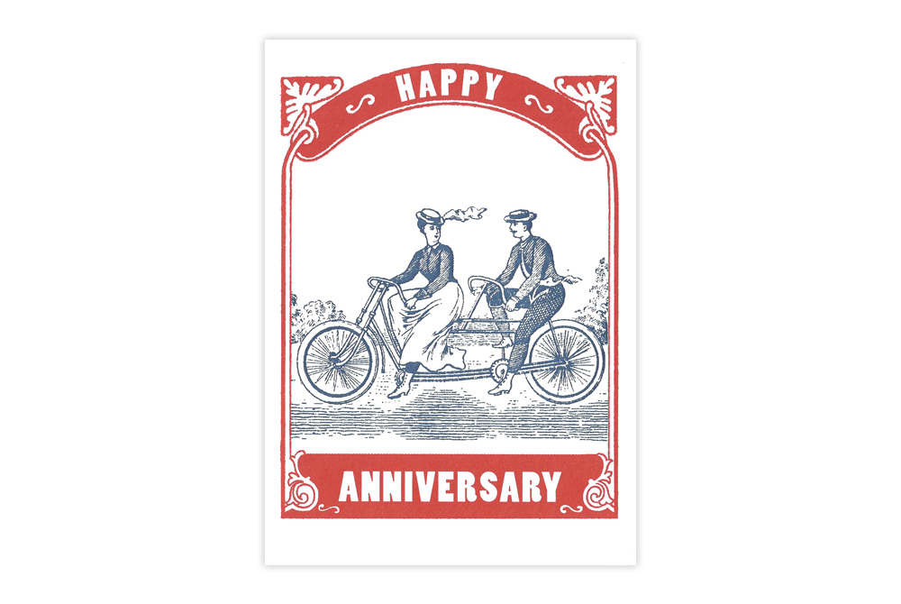 Bicycle Anniversary Card