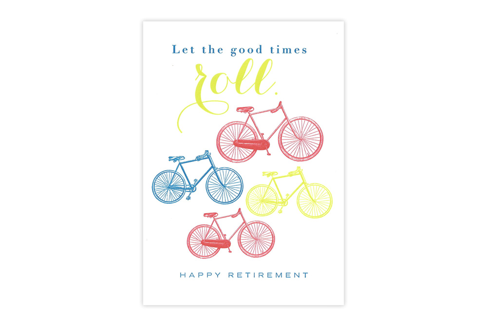 Happy Retirement Bicycle Card