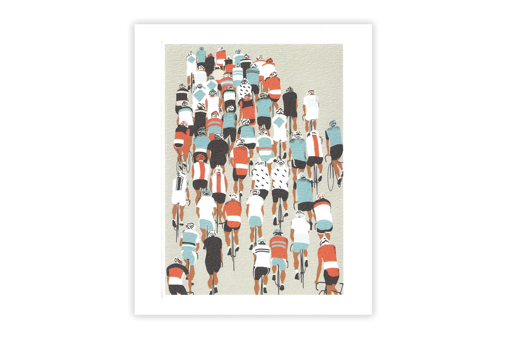 Peloton Bicycle Greeting Card by Eliza Southwood