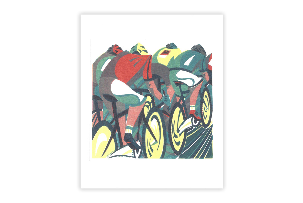 Peloton Bicycle Greeting Card by Paul Cleden