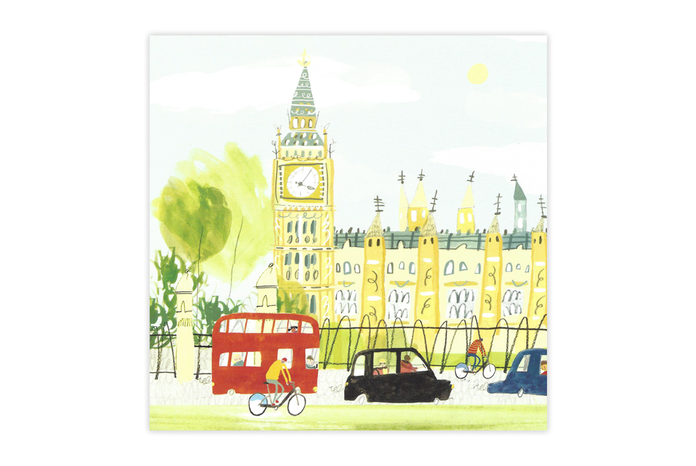Big Ben Bicycle Greeting Card