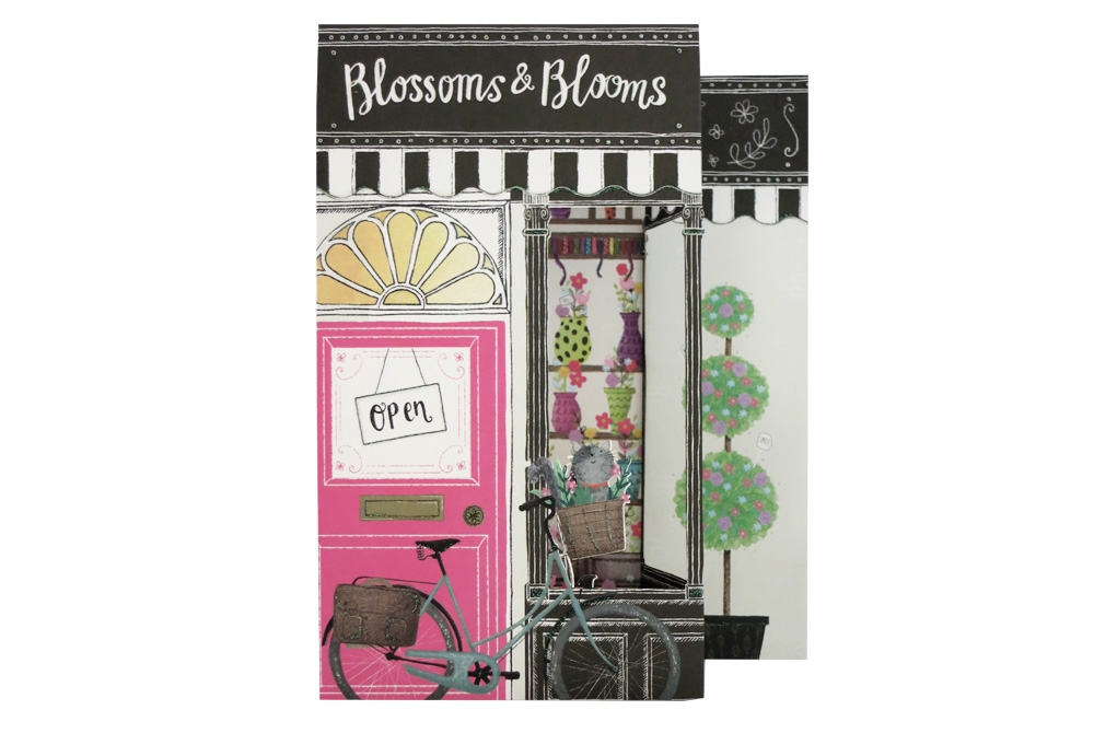 Blossoms & Blooms Bicycle Greeting Card