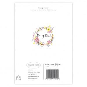 Carpet of Flowers Bicycle Birthday Card