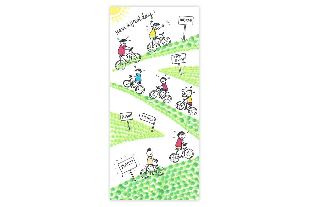 Have a Great Day Childrens Bicycle Birthday Card