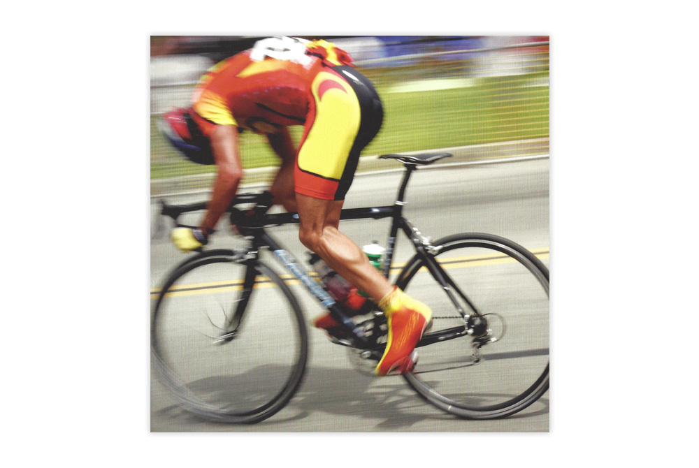 Intense Cycling Bicycle Greeting Card