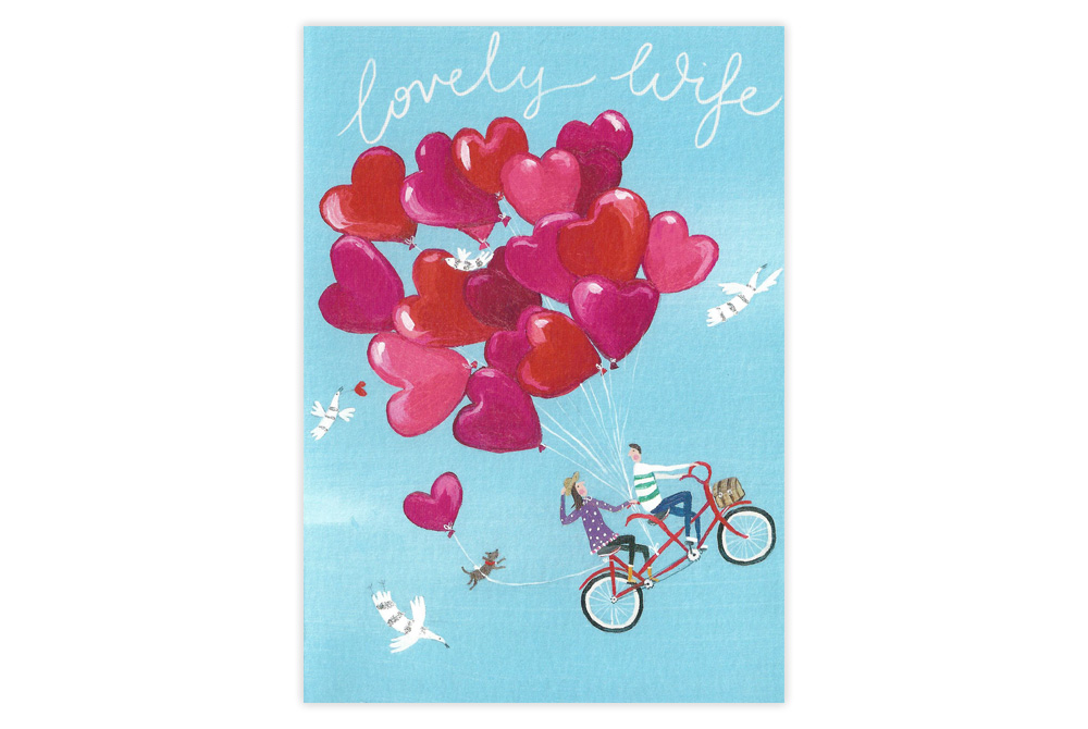Lovely Wife Tandem Birthday Card