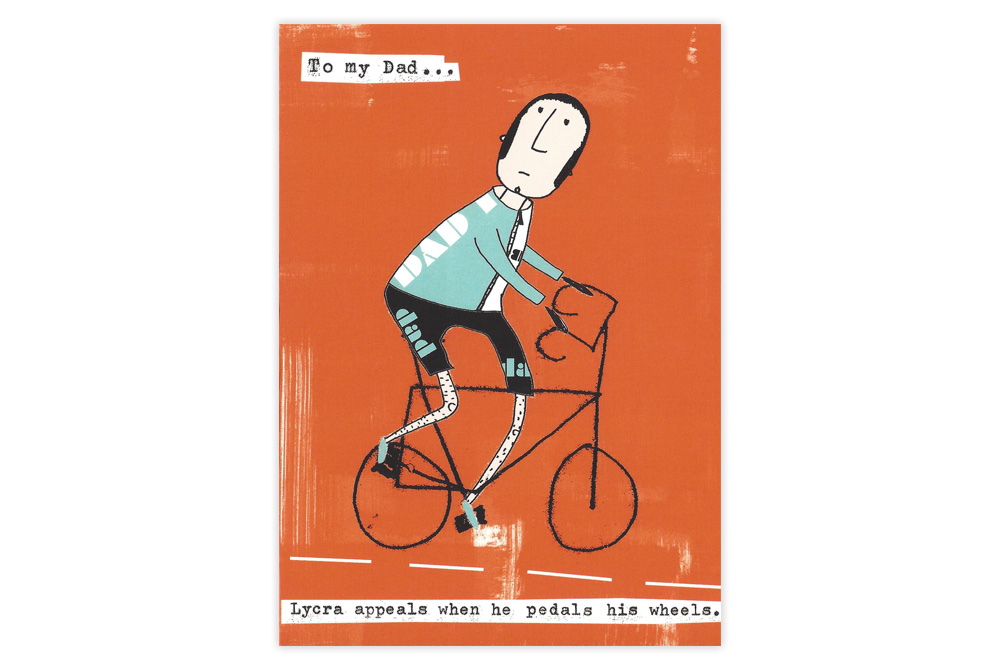 To my Dad Bicycle Father's Day Card