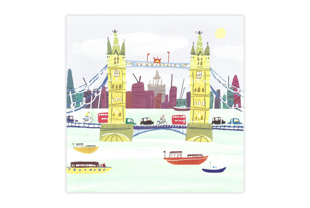 Tower Bridge Bicycle Greeting Card