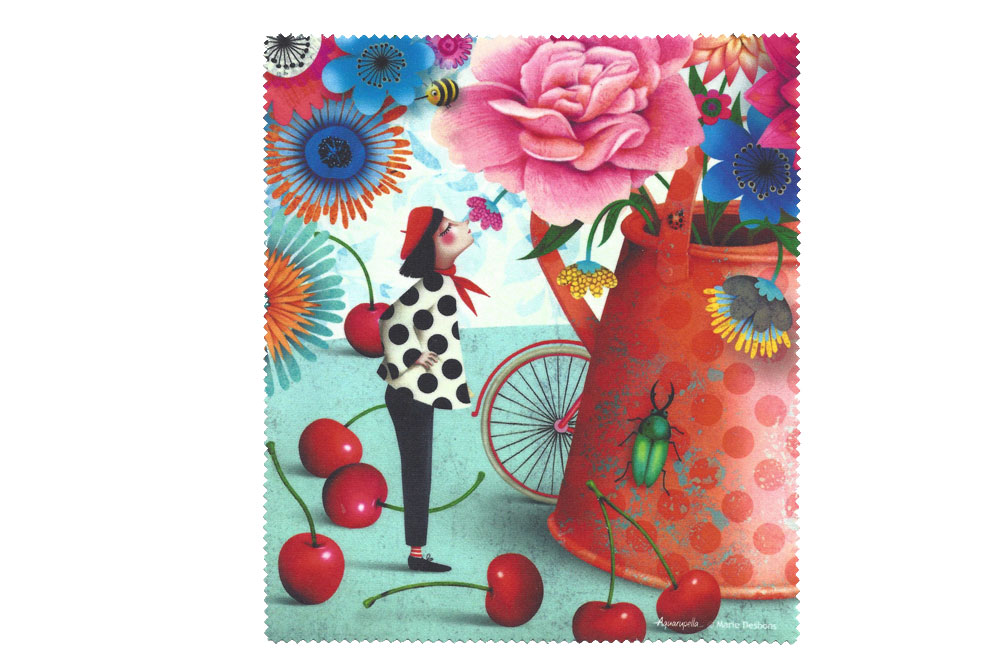 Funky French Bicycle Microfiber Cloth