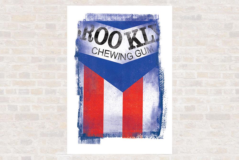 Brooklyn Cycling Print by Gareth Llewhellin