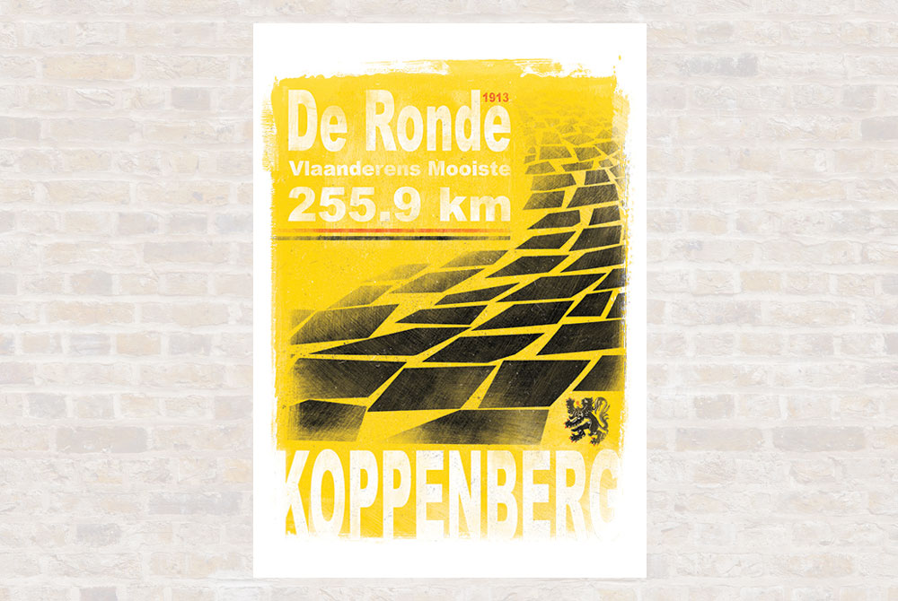De Ronde Cycling Print by Gareth Llewhellin