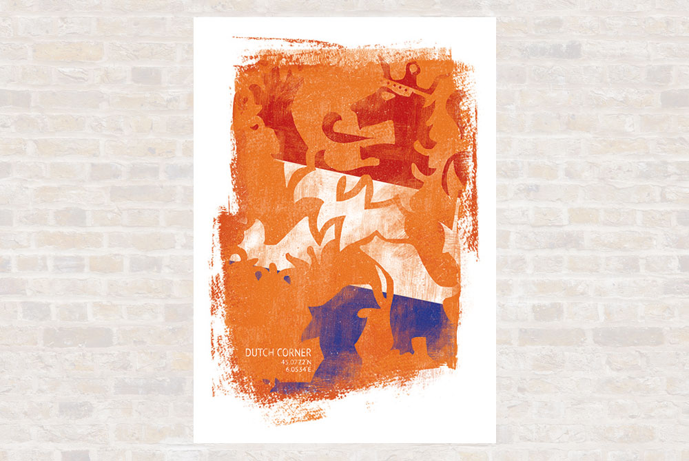 Dutch Corner Cycling Print by Gareth Llewhellin