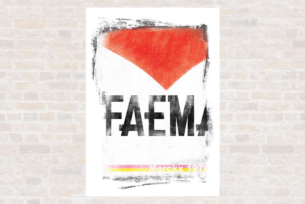 Faema Cycling Print by Gareth Llewhellin