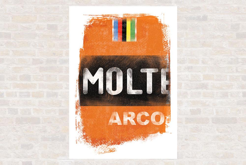 Molteni Cycling Print by Gareth Llewhellin