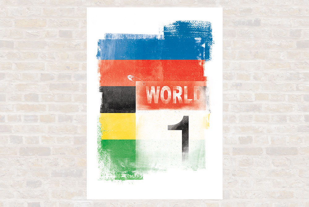 World Champion Cycling Print by Gareth Llewhellin