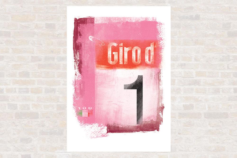 Giro d'Italia Cycling Print by Gareth Llewhellin