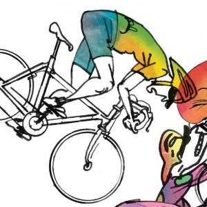 Pelatoon Stage 04 Cycling Print – Simon Spilsbury