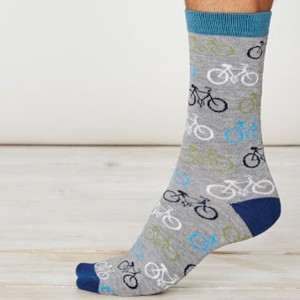 Men's Bamboo Bicycle Socks – Grey Marl