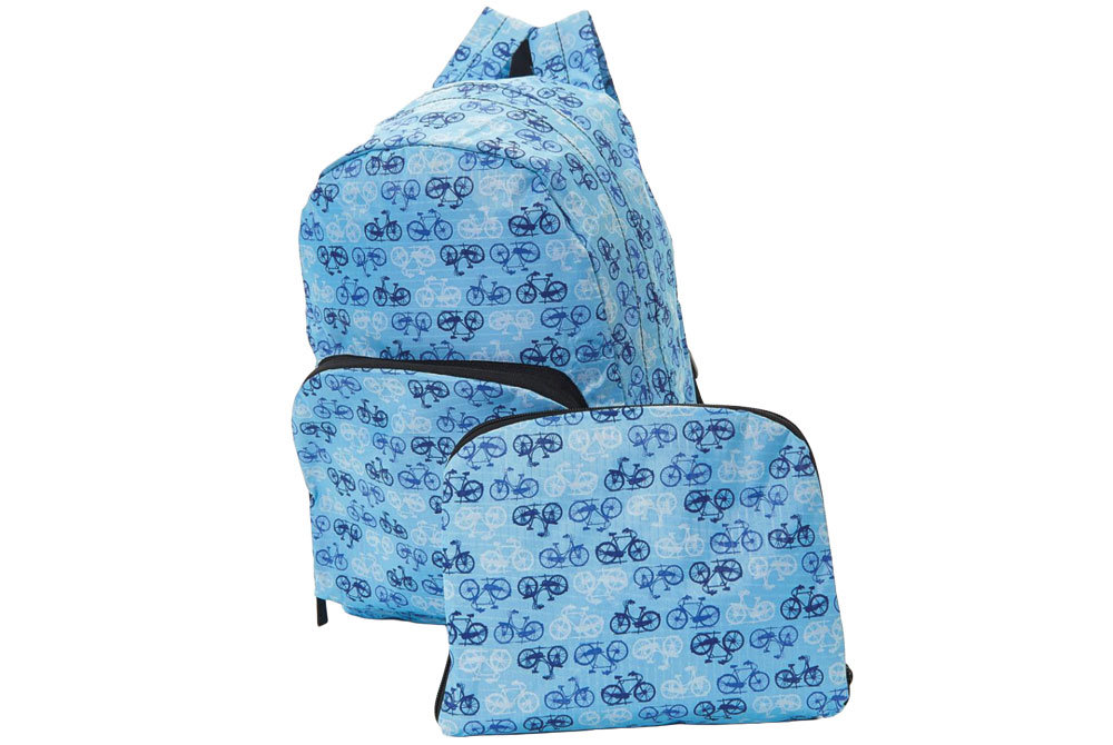 Blue Foldable Vintage Bicycle Backpack