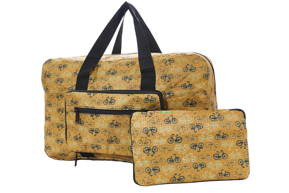Mustard Foldable Vintage Bicycle Holdall