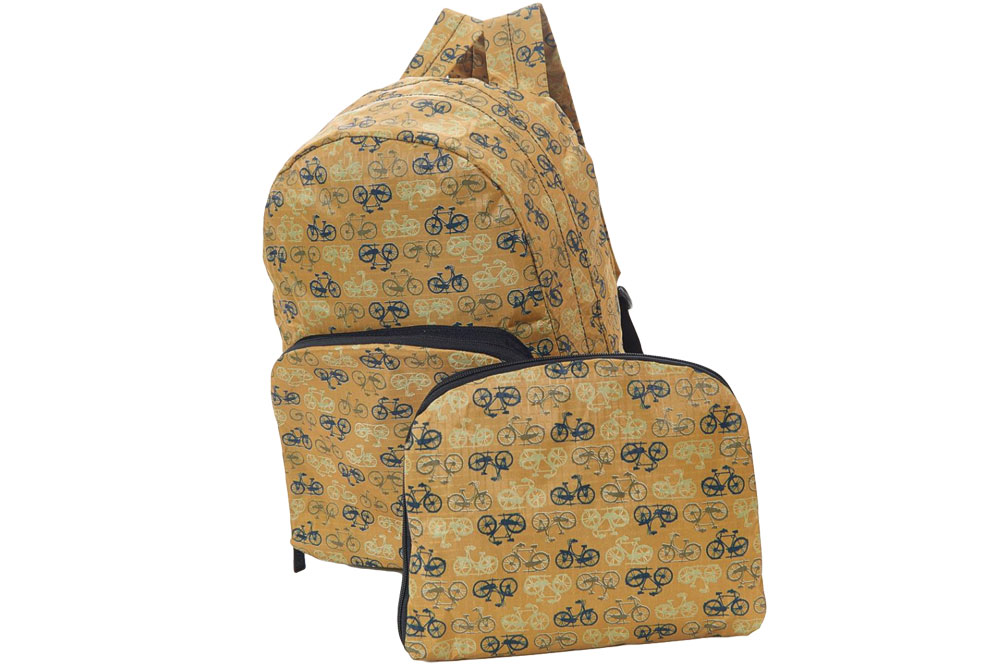 Mustard Foldable Vintage Bicycle Backpack